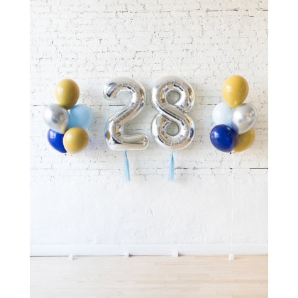 DisneyWorld - Foil Numbers & 11in Balloon Bouquets Set