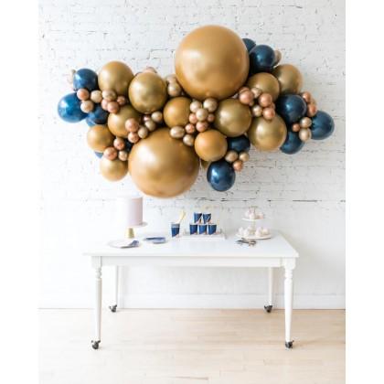 Blue Aurette - Backdrop Balloon Garland Install Piece