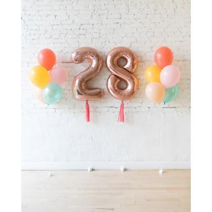 BubbleGum - Numbers & 11in Balloon Bouquets Set