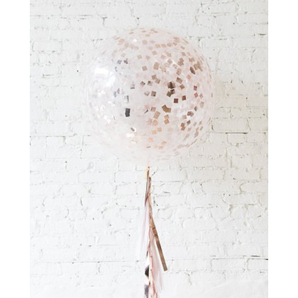 CherryBlossoms - Confetti Giant Balloon with Tassel