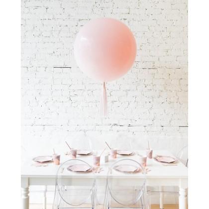 CherryBlossoms Light Pink Giant Balloon and Mauve Skirt Centerpiece