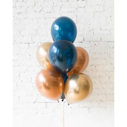 Blue Aurette - 11in Balloons - bouquet of 7
