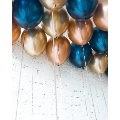 Blue Aurette - 11in Ceiling Balloons - pack of 25