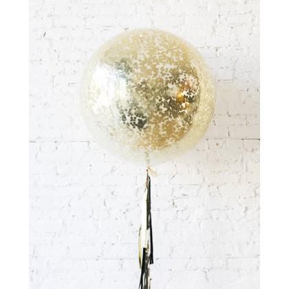 Royal - Confetti Giant Balloon with Tassel
