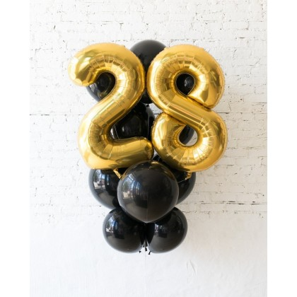 Royal - Foil Number and latex Balloons - 13 balloons