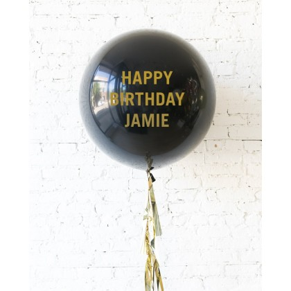 Royal - Personalized Happy Birthday Balloon with Tassel