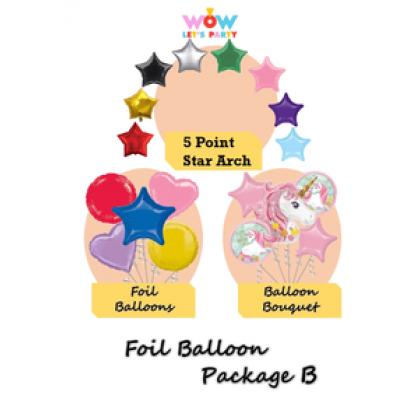 Foil Balloon Package B