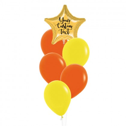 Personalised Star Foil With Fashion Latex Balloons Bouquet