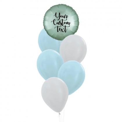 Personalised Circle Foil With Metallic Latex Balloons Bouquet