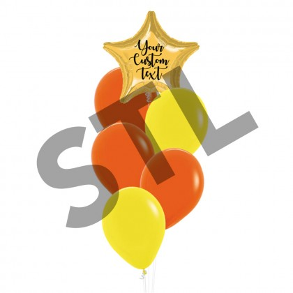 Personalised Satin Luxe Star Foil And Latex Balloons Bouquet