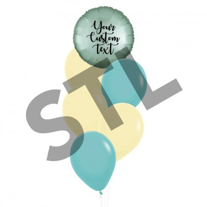 Personalised Satin Luxe Circle Foil And Latex Balloons Bouquet