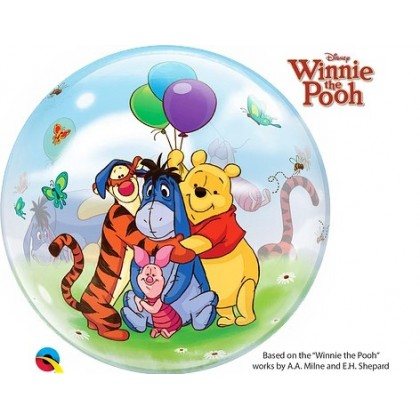 """Q 22"""" Winnie The Pooh And Friends Bubble Balloon"""