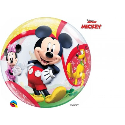"""Q 22"""" Mickey And Friends Bubble Balloon"""