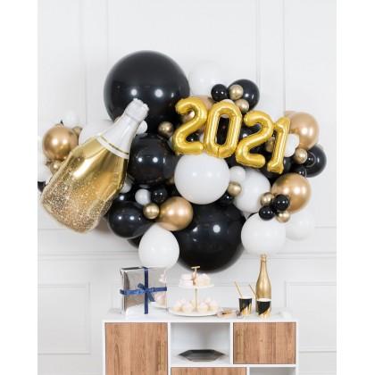 Graduation - Champagne Bottle Backdrop Garland - 6ft