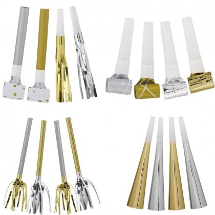 Birthday Accessories Silver & Gold Mega Pack Noisemakers