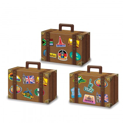 Around The World Luggage Favor Boxes