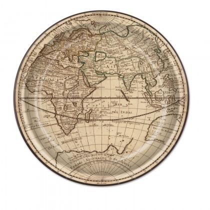 Around The World Round Plates 9in