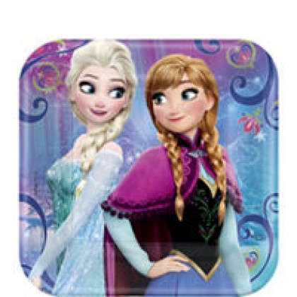 Disney Frozen Magic Square Plates, 7""