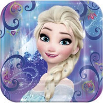 "Disney Frozen Magic Square Plates, 9"""