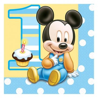 ©Disney Mickey's 1st Birthday Luncheon Napkins
