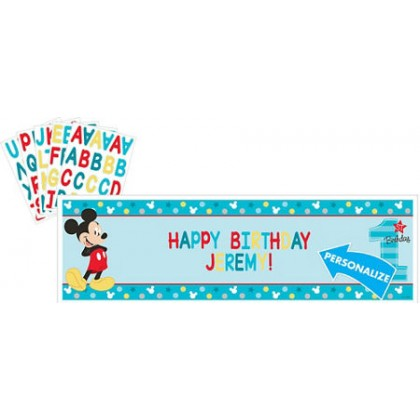 Disney Mickey's Fun To Be One Personalized Giant Banner Kit
