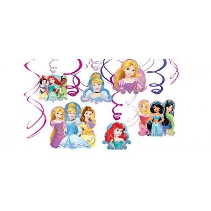 Disney Princess Dream Big Value Pack Foil Swirl Decorations
