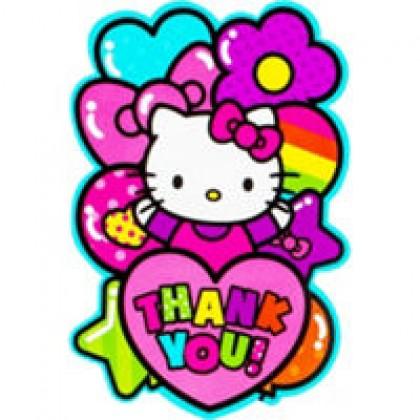 Hello Kitty Rainbow Postcard Thank You Card