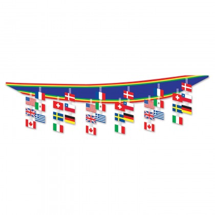 International Flag Ceiling Decor