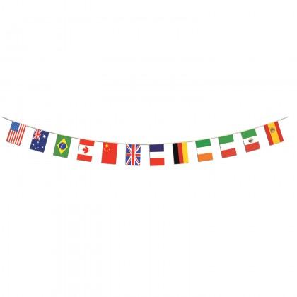"International Flag Pennant Banner 12"" x 14' 6"""