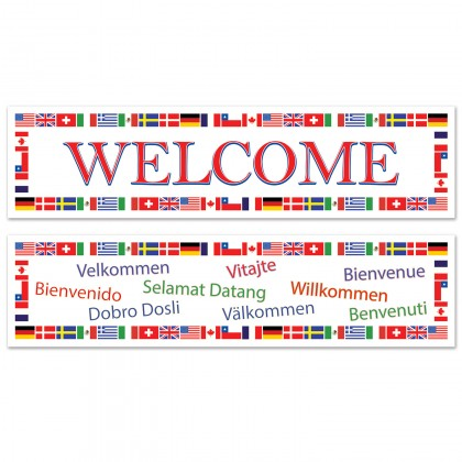 International Flag Welcome Banners
