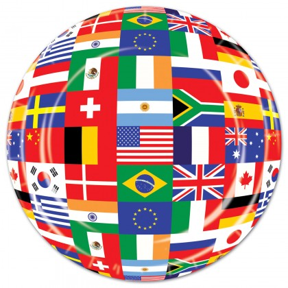 International Flag Plates 7in