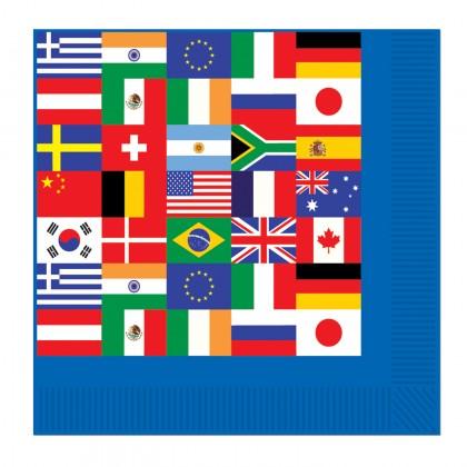 International Flag Beverage Napkins