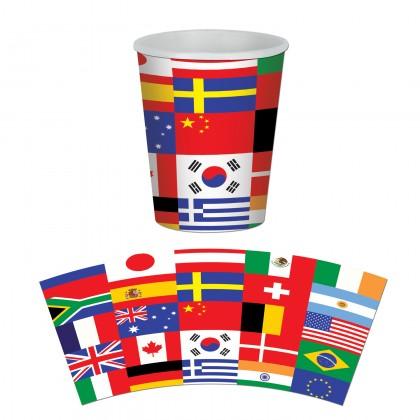 International Flag Beverage Cups
