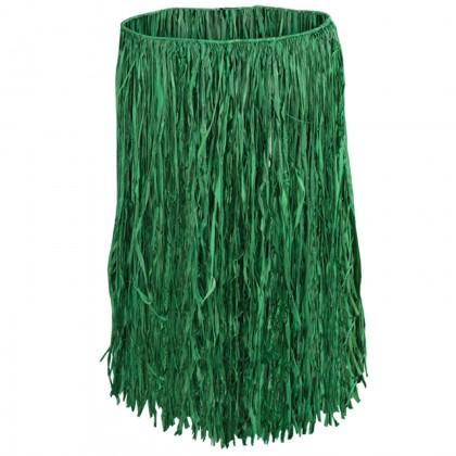 Adult Raffia Hula Skirt - Green