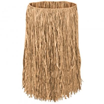 Adult Raffia Hula Skirt - Natural
