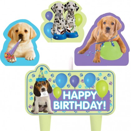 Party Pups Birthday Candle Set