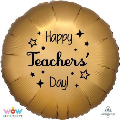 Satin Luxe Happy Teachers' Day Foil Balloon