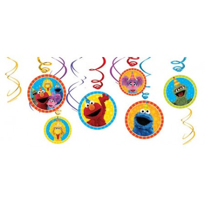 Sesame Street 2 Value Pack Foil Swirl Decorations