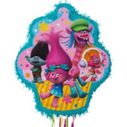 ©Trolls Licensed Outline Pull Piñata