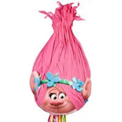 ©Trolls Licensed 3-D Premium Pull Piñata - Poppy