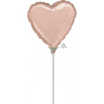 """A10 9"""" Rose Gold Heart"""