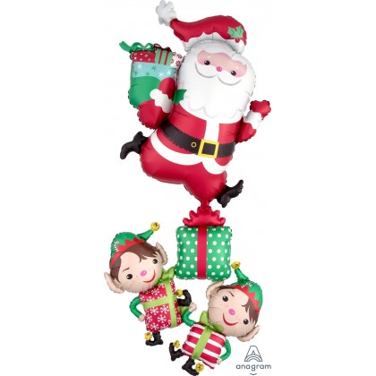 "P70 61"" Christmas Characters Stacker Giant Multi-Balloon"