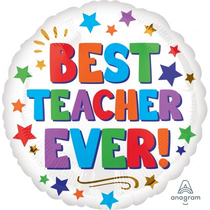 "S40 17"" Best Teacher Ever Standard HX®"