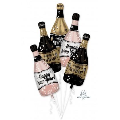 P75  HNY Bubbly Bottles Bouquet
