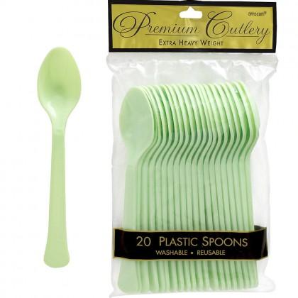 Leaf Green Premium Plastic Spoon