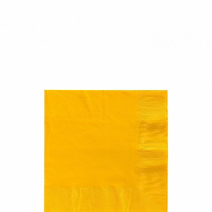 Beverage Napkins Yellow Sunshine