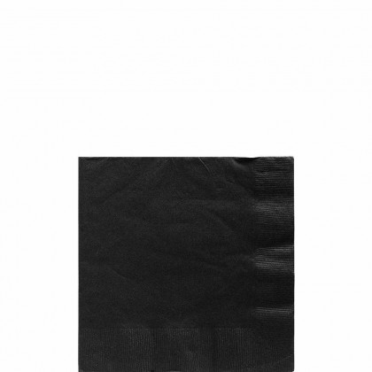 Beverage Napkins Jet Black