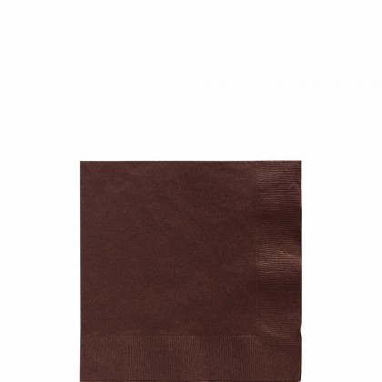 Beverage Napkins Chocolate Brown