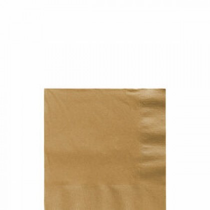 Beverage Napkins Gold