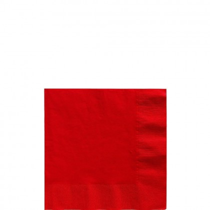 Beverage Napkins Apple Red